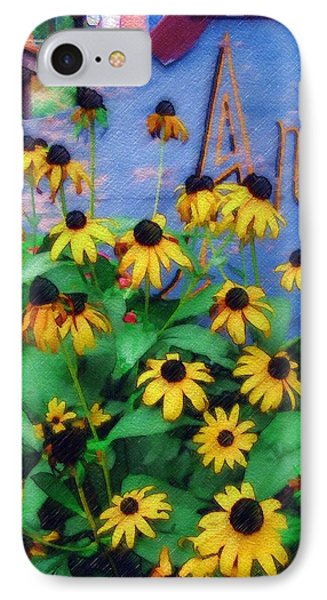 IPhone Case featuring the photograph Black-eyed Susans At The Bag Factory by Sandy MacGowan