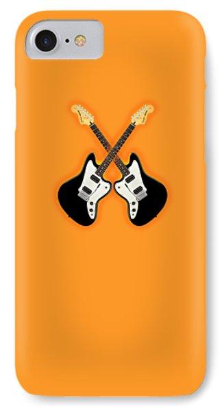 Black Fender Jaguar  Guitar Phone Case by Doron Mafdoos
