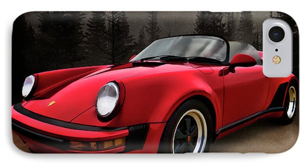 Black Forest - Red Speedster Phone Case by Douglas Pittman