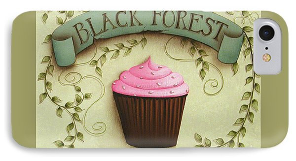 Black Forest Cupcake Phone Case by Catherine Holman