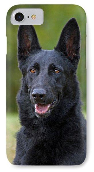 Black German Shepherd Dog IPhone Case