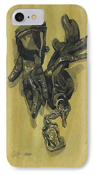 Black Gloves And Bibelot. Paradox Still Life IPhone Case by Igor Sakurov