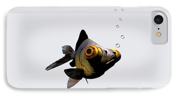 Black Goldfish Phone Case by Corey Ford