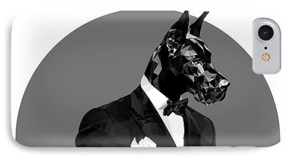 Black Great Dane 2 IPhone Case by Gallini Design