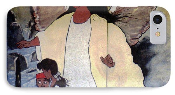 Black Guardian Angel Mural IPhone Case