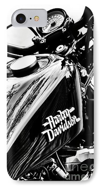Black Harley IPhone Case by Tim Gainey