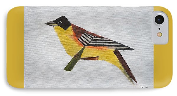 Black-headed Bunting IPhone Case by Tamara Savchenko