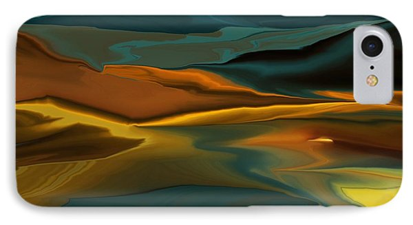 Black Hills Abstract Phone Case by David Lane