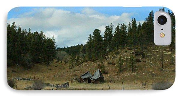 Black Hills Broken Down Cabin IPhone Case