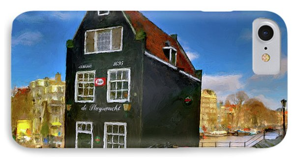 IPhone Case featuring the photograph Black House In Jodenbreestraat #1. Amsterdam by Juan Carlos Ferro Duque