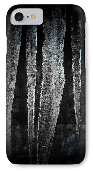 IPhone Case featuring the digital art Black Ice by Barbara S Nickerson