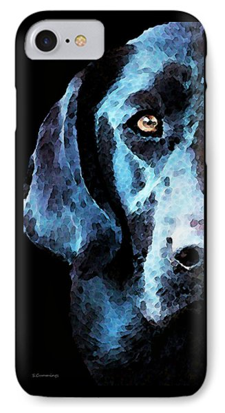 Black Labrador Retriever Dog Art - Hunter IPhone Case