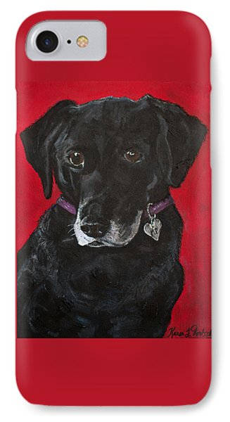 Miss Priss The Black Labrador Retriever Mix IPhone Case