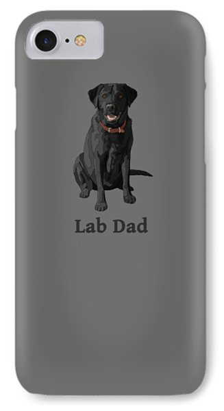 Black Labrador Retriever Lab Dad IPhone Case by Crista Forest