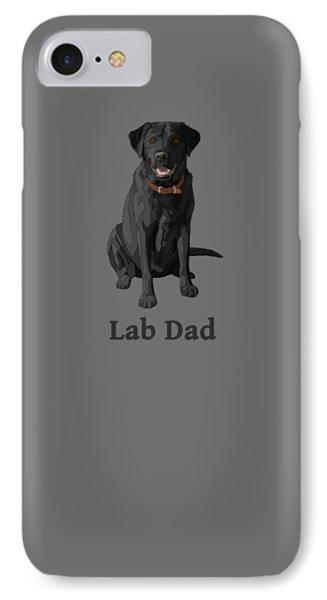 Black Labrador Retriever Lab Dad IPhone Case
