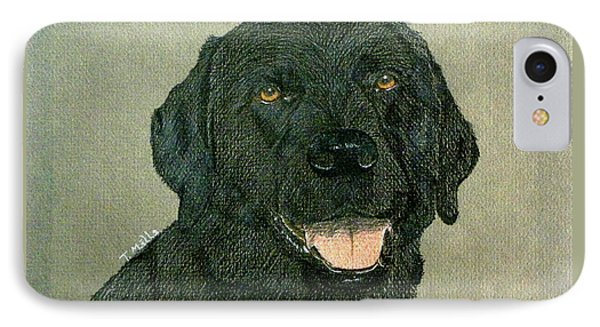IPhone Case featuring the drawing Black Labrador Retriever by Terri Mills