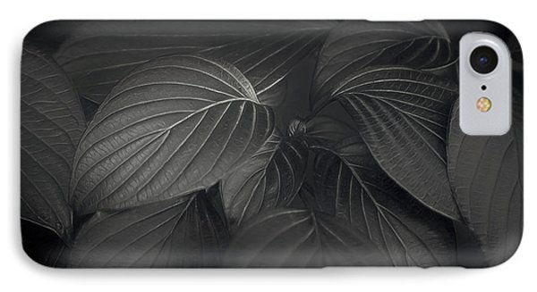 Black Leaves IPhone Case
