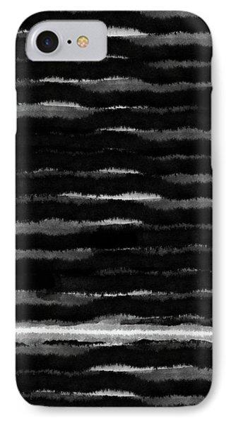 Black Lines- Art By Linda Woods IPhone Case by Linda Woods