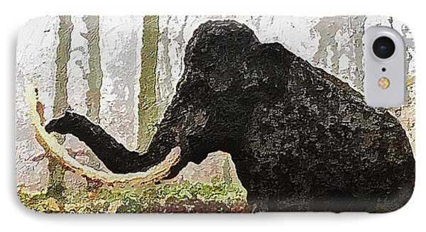 IPhone Case featuring the digital art Black Mammoth by PixBreak Art