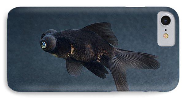 Black Moor Ornamental Fish Phone Case by David Aubrey