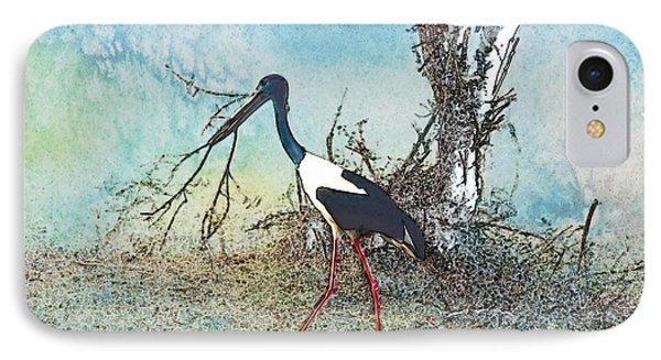 Black Neck Stork  IPhone Case