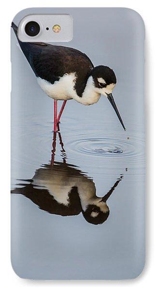 Black-necked Stilt Reflection IPhone Case