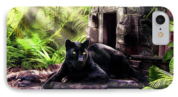 Black Panther Custodian Of Ancient Temple Ruins  IPhone 7 Case