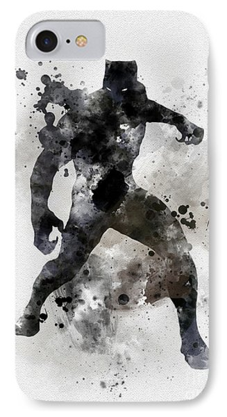 Panther iPhone 7 Case - Black Panther by Rebecca Jenkins
