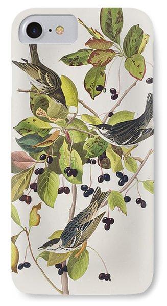 Black Poll Warbler IPhone 7 Case by John James Audubon