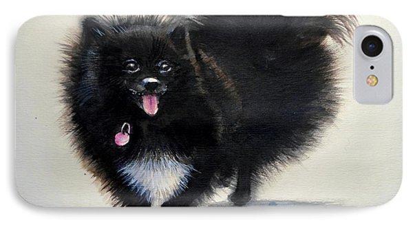 Black Pomeranian Dog 3 IPhone Case