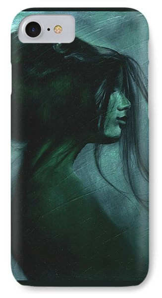 IPhone Case featuring the painting Black Raven by Ragen Mendenhall