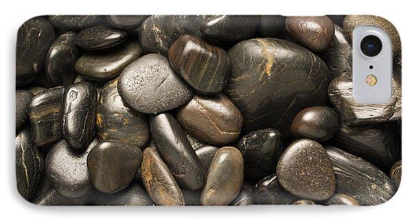 Black River Stones Square Phone Case by Steve Gadomski