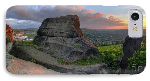 Black Rock 3.0 Panoramic IPhone Case by Yhun Suarez