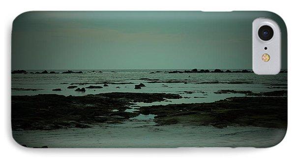 Black Rock Beach IPhone Case by Mini Arora