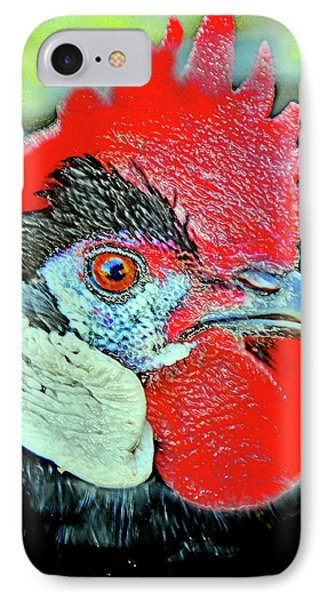 Black Rooster. IPhone Case