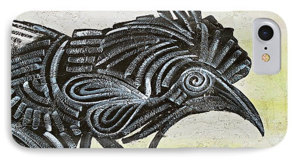 Black Rooster IPhone Case by Ethna Gillespie