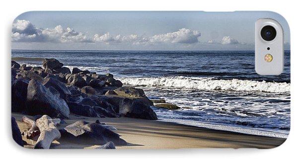 Black Sand Beach  IPhone Case by Douglas Barnard
