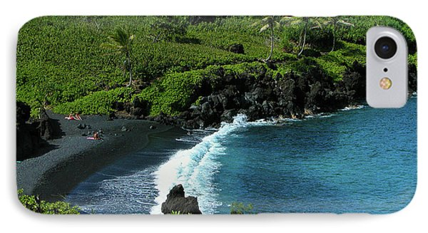 Black Sand Beach  IPhone Case by Harry Spitz