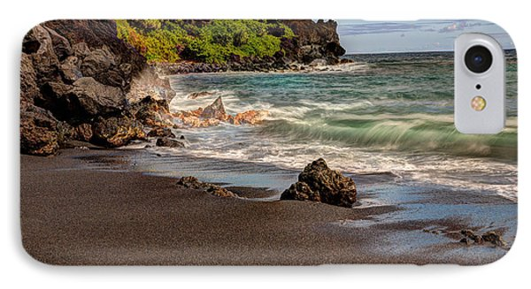 IPhone Case featuring the photograph Black Sand Beach Maui by Shawn Everhart