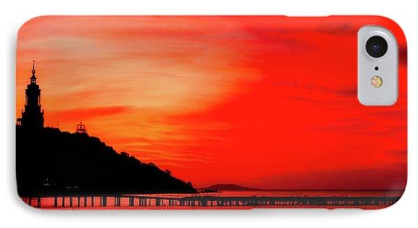 Black Sea Turned Red IPhone Case by Reksik004