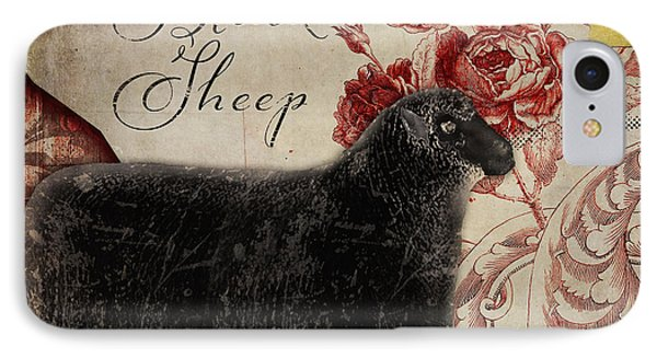Black Sheep Nursery Rhyme Mother Goose IPhone Case by Mindy Sommers