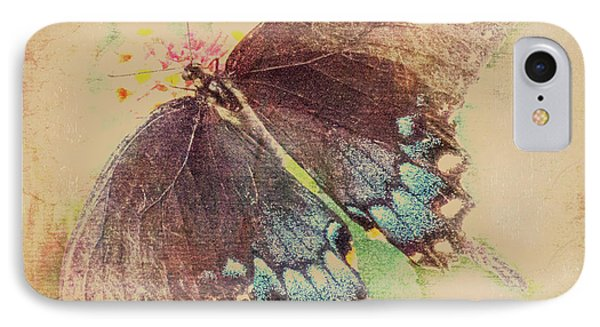 Black Swallowtail Butterfly Framed  IPhone Case