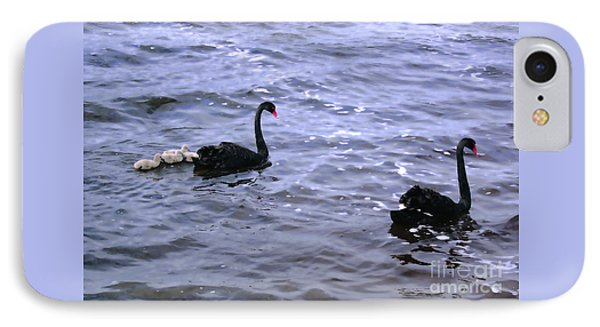 Black Swan Family IPhone Case by Cassandra Buckley
