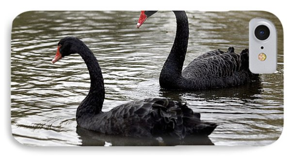 Black Swans Phone Case by Denise Swanson