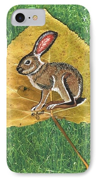 Black Tail Jack Rabbit  IPhone Case by Ralph Root
