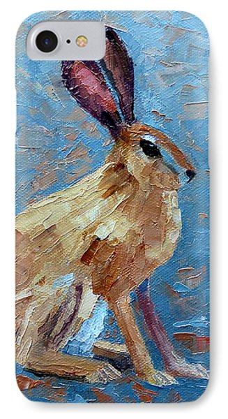 Black-tailed Jackrabbit IPhone Case by Susan Woodward