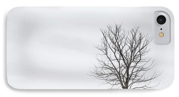 Black Tree White Sky IPhone Case by Scott Norris