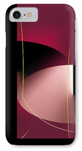 Black Vs White Vs Red IPhone Case by John Krakora