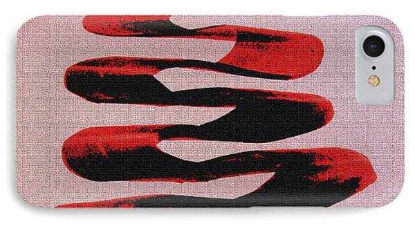 Black Walnut Ink Abstract #10 IPhone Case by Tom Janca