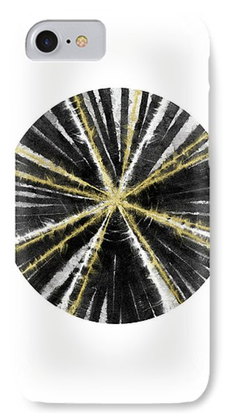 Black, White And Gold Ball- Art By Linda Woods IPhone Case by Linda Woods